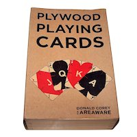 "Areaware ""Plywood Playing Cards,"" Donald Corey Conception/Design"