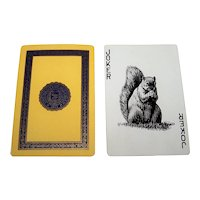 "USPC ""University of Michigan"" Playing Cards, Squirrel Joker, Signature President Ruthven, c.1935"