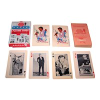 """Ed-U-Cards """"Man from U.N.C.L.E."""" Playing Cards, 1965"""