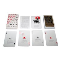 """Esselte Obergs AB """"The Game of the Gods"""" (""""Asaleken"""") Playing Cards, """"New Suits"""" (Pips), Norse Mythology, c.1970s"""