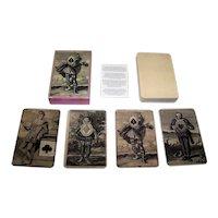"""Ediciones del Prado """"Baraja Burlesca"""" Facsimile Playing Cards [Original Deck— """"Burlesque"""" HB Engraver, c.1700]"""