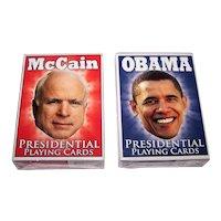 "2 Companion Decks Parody Production ""Presidential Playing Cards,"" Obama and McCain Decks, Kelley Hensing Artwork, c.2008"
