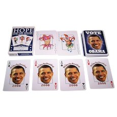 "Parody Production ""Presidential Playing Cards,"" Obama Deck, Kelley Hensing Artwork, c.2008"