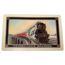 """USPC """"Pennsylvania Railroad"""" Playing Cards, Bollhagen PRR-8, """"Train on Trestle"""", c.1930"""