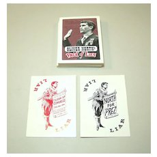 """""""Oliver North Pack of Lies"""" Playing Cards, Created by """"Clean Up Congress,"""" c.1994"""