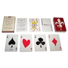 "Carta Mundi ""La Blanche"" Playing Cards, for Promo-Quebec, Friedland of Paris Publisher, Normand Hudon Designs, c.1960s (?)"