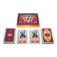 "Double Deck Piatnik ""Arab"" Playing Cards, c.1976"