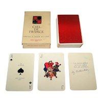 "Draeger Freres ""Ciel de France"" Playing Cards, Miro Company Publ., Jacques Branger Designs, c.1950"