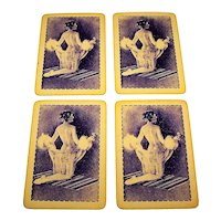 4 SINGLES (Kings):  Waddington Pin-Up Playing Cards, c.1930s
