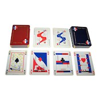 "Double Deck Grimaud ""French Line"" (""Compagnie Generale Transatlantique"") Maritime Playing Cards, M. Marie Designs, c.1962"