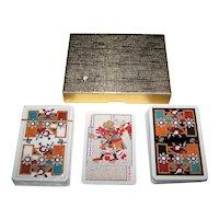 "Double Deck Piatnik ""Precolumbian"" Playing Cards, c.1989"