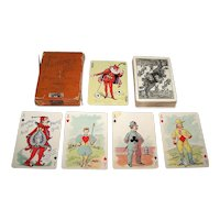 """United States Playing Card Company """"Hustling Joe No. 61"""" Playing Cards, First Edition, c.1895"""