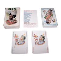 "Grimaud ""Kenya Tribus"" Playing Cards, Sapra Playing Cards Publisher, c.1991"