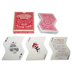 """A. Freed Novelty, Inc. """"Crooked Deck"""" Novelty Playing Cards, c.1969"""