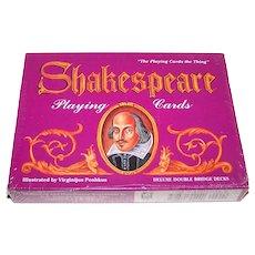 Double Deck of Carta Mundi (U.S. Games Systems) Shakespeare Playing Cards, Virginijus Poshkus Illustrations, c.1992