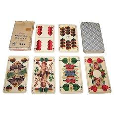 """Piatnik """"Bayrisches-Karten No.345"""" Playing Cards, Double-Ended Bavarian Pattern (Stralsund Type), c.1950"""
