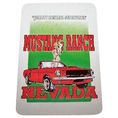 """""""Mustang Ranch"""" Playing Cards, Hong Kong Maker"""