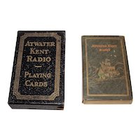 """USPC """"Atwater Kent Radio"""" Playing Cards, c.1927"""