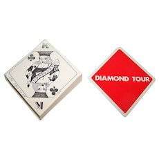 """""""Diamond Tour"""" Novelty Playing Cards, Diamond Shape, Maker and Date Unknown"""
