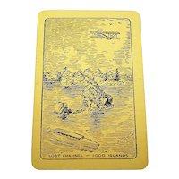 """1000 Islands"" Souvenir Playing Cards (52/52, NJ, EC), Maker Unknown, c.1920s (?)"