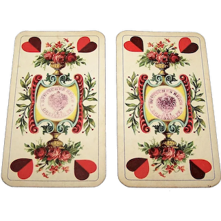 """Vereinigte Stralsunder Spielkarten Fabrik AG """"Salon No. 1D"""" Gaigel Playing Cards, """"Sächsische Doppelbilder"""" (""""Saxon Double-Ended"""") Pattern, c.1912-1918"""