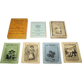 """Marlowe Co. """"Madame Signa Fortune Telling Cards"""" Marlowe Co. Copyright, c.1921"""