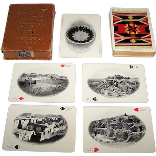 """Lazarus & Melzer """"The American Indian"""" Souvenir Playing Cards, c.1903"""