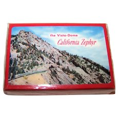 """Brown & Bigelow """"Western Pacific Vista Dome California Zephyr"""" Railroad Playing Cards, Bollhagen WP-5, c.1952"""
