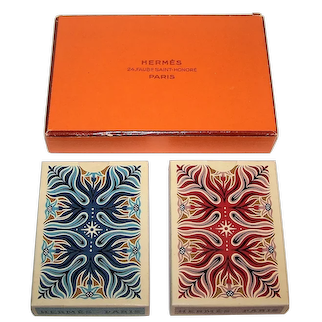 """Double Deck Draeger-Freres """"Hermes"""" Playing Cards, Cassandre Designs, Second Edition, c.1950"""