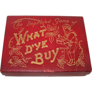 """McLoughlin Bros. """"Improved Game of What D'Ye Buy"""" Card Game, c.1914"""