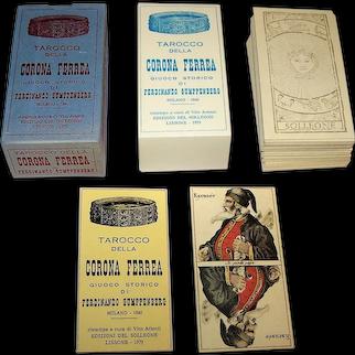 """Edizioni del Solleone """"Tarocco della Corona Ferrea"""" Facsimile Tarot Cards, [Original: Gumppenberg of Milan, 1844], Ltd. Ed. (2489/2500), c.1979"""