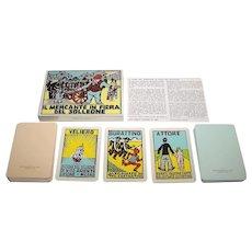 """Solleone """"Il Mercante in Fiera del Solleone"""" Card Game, Ltd. Ed. (8/999), Costante Costantini Designs, c.1985"""