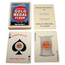 """USPC """"Gold Medal Flour"""" Advertising Playing Cards, Washburn, Crosby & Company Publisher, c.1913-1920"""