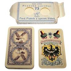 "Piatnik No. 73 ""Prazske Narodni"" (""Prague National Pack"") Skat Playing Cards, aka ""Hussite Pack,"" Karel Hoffmann Designs, c.1920"