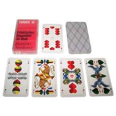 """Bielefelder """"Tarock 42 Fränkisches Doppelbild"""" Playing Cards, """"Fränkisches Doppelbild""""(""""Franconian Double-Ended"""") Pattern, c.1958-1971"""