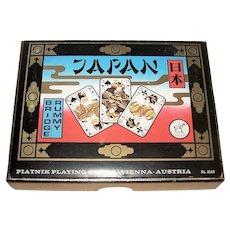 """Double Deck Piatnik """"Japan"""" Playing Cards, c.1975"""