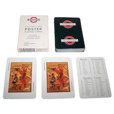 "Carta Mundi (?) ""Underground"" Poster Art Playing Cards, Phillip Lewis Agencies Publ., London Transport Museum, c.1992"