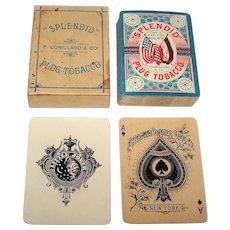 """American Playing Card Co. """"'Splendid' Plug Tobacco,"""" P. Lorillard & Co., c.1876"""