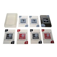 """Canon """"DiG!C II"""" Clear, Transparent Plastic Playing Cards, Maker Unknown, c.2004-2006"""
