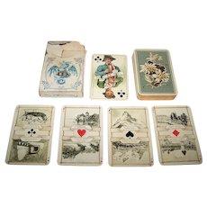 """Dondorf No. 174 """"Schweizer Trachten"""" (""""Swiss Costumes"""") Playing Cards, c.1890s"""
