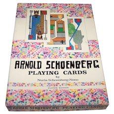 "Piatnik ""Arnold Schoenberg"" Playing Cards w/ Book, Preface by Nuria Schoenberg-Nono, c.1981"