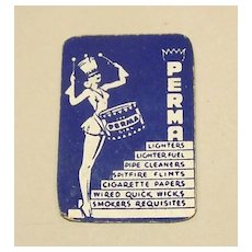 """""""Perma Girl"""" Miniature Playing Cards, Maker Unknown, """"Perma"""" Adv. (Tobacciana), c.1930s"""