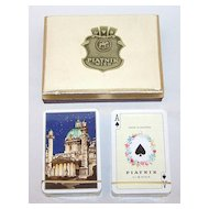"2 Double Decks Piatnik Playing Cards $15 / each: ""Middle East"" ""Vienna"""