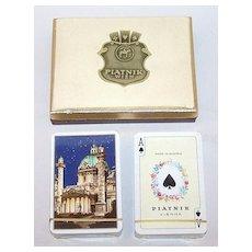 "2 Double Decks Piatnik Playing Cards $15 / each: ""Middle East"" ""Vienna"""