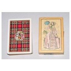 "2 Decks USPC Congress 606 Playing Cards, $15/ea.: (i) ""Stewart"" (Scottish Clan) c.1928; (ii) ""Melissa"" (""Fashionable Woman""), c.1929"