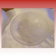 Verlys Alpine Thistle French Crystal Bowl