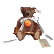 "Steiff ""Sold"" Bear with Wooden Hammer, all original with tags"