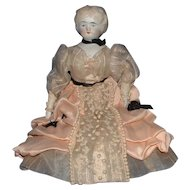 Lovely Parian China Head Doll in Beautiful Costume