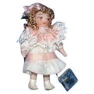 MIB Miniature Ethel Hicks Porcelain Doll Melony with Certificate