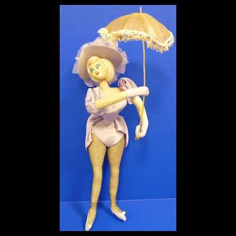 Layna Doll In Fancy Lavender Outfit with Parasol